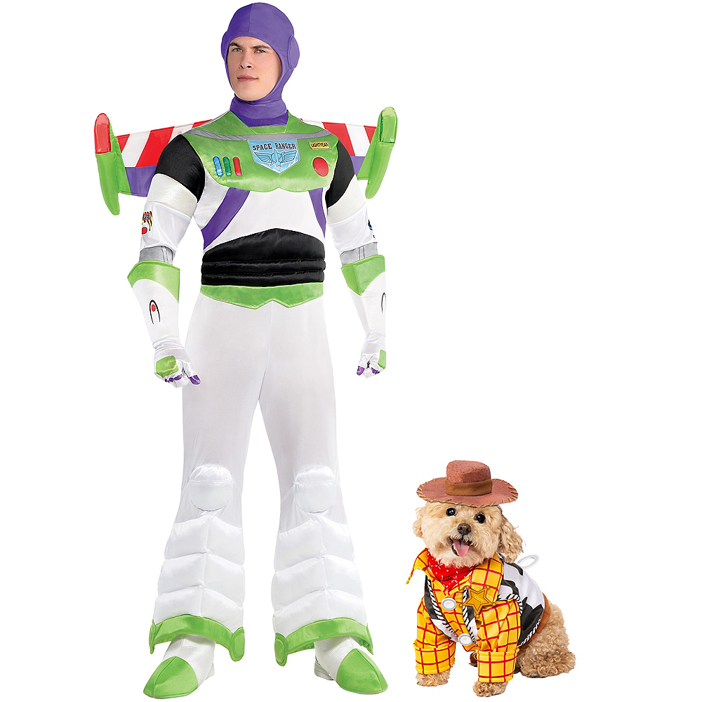Adult Buzz Lightyear & Woody Doggy & Me Costumes - Toy Story Image #1