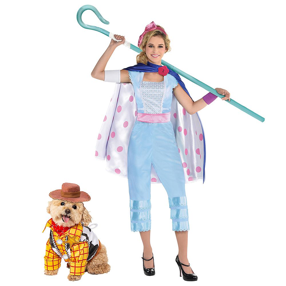 Nav Item for Adult Bo Peep & Woody Doggy & Me Costumes - Toy Story Image #1