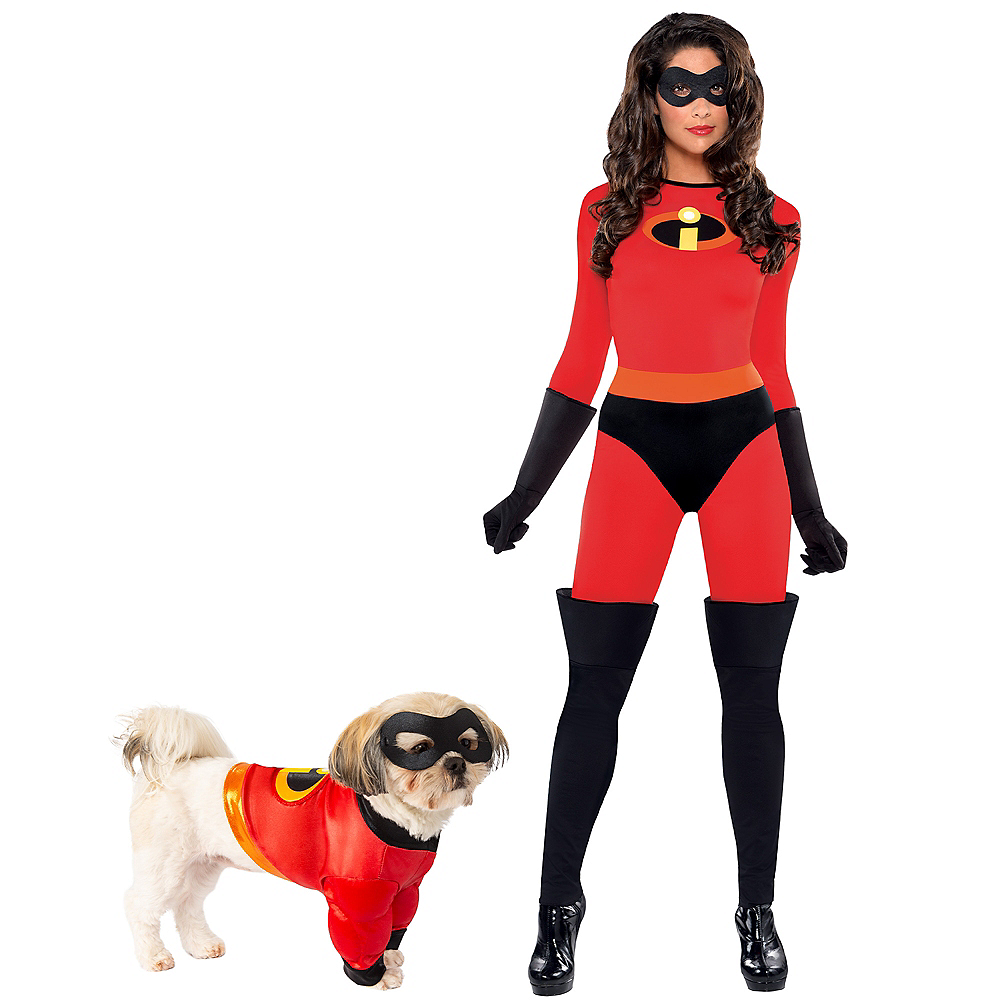 Adult Mrs. Incredible & Incredibles Doggy & Me Costumes - The Incredibles Image #1