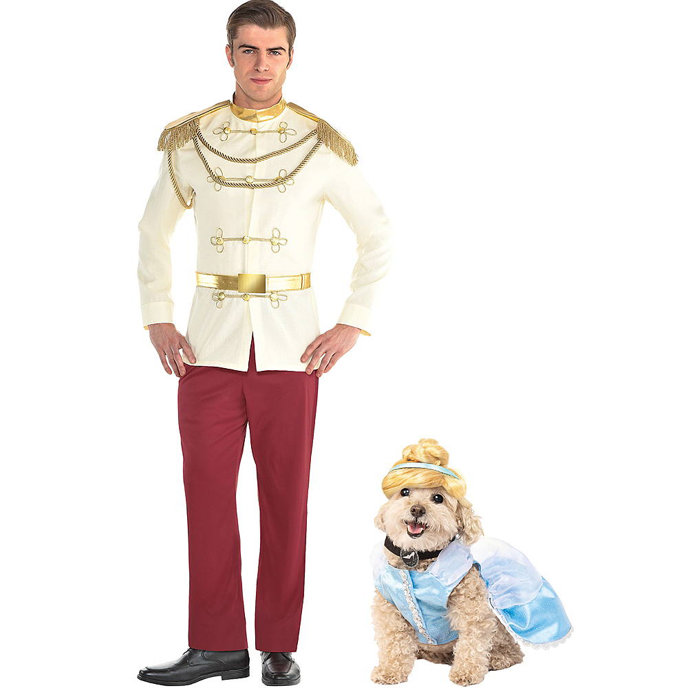 Adult Prince Charming & Cinderella Doggy & Me Costumes - Cinderella Image #1