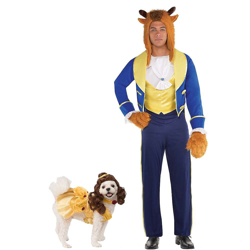 Adult Beast & Belle Doggy & Me Costumes - Beauty and the Beast Image #1