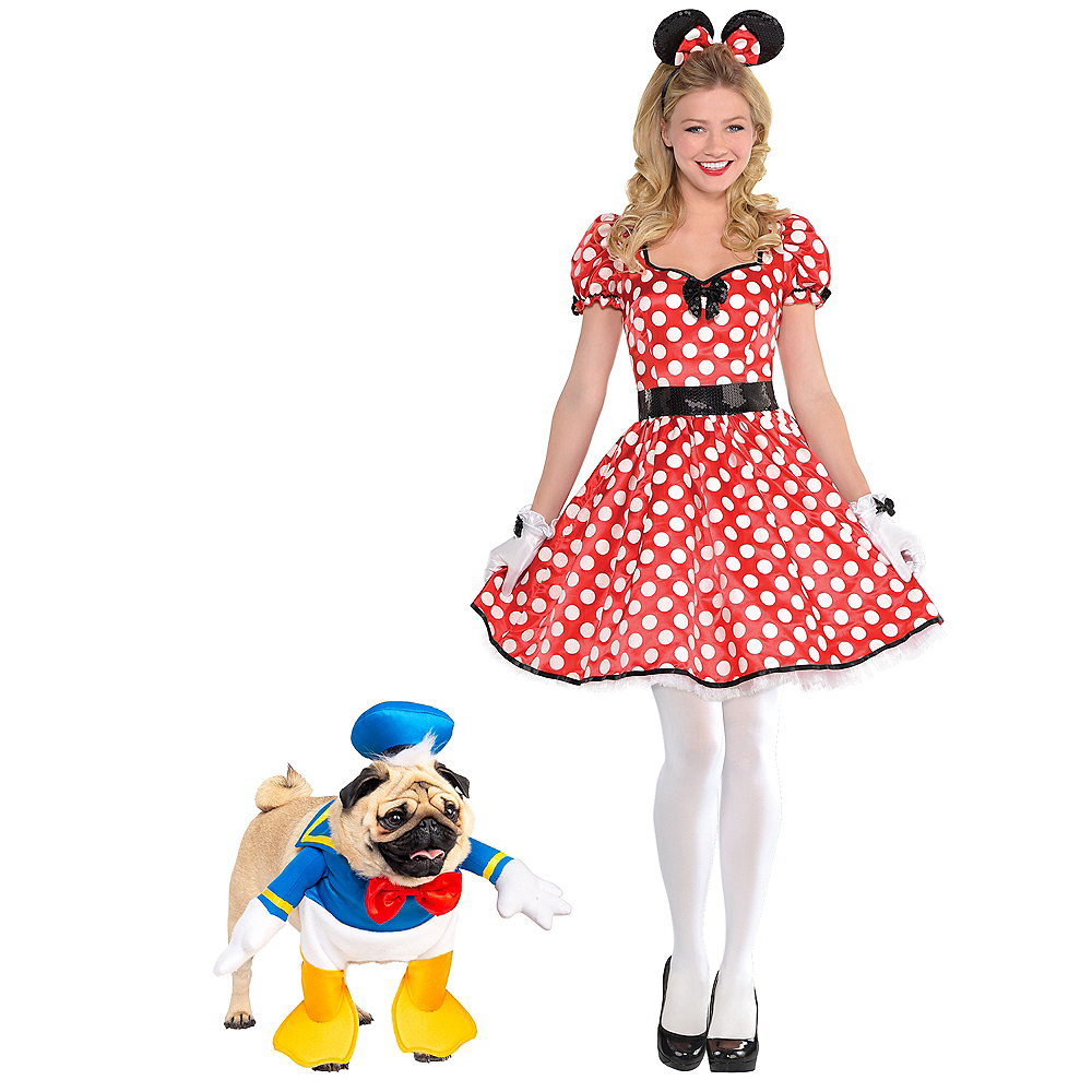 Adult Sassy Minnie Mouse & Donald Duck Doggy & Me Costumes Image #1