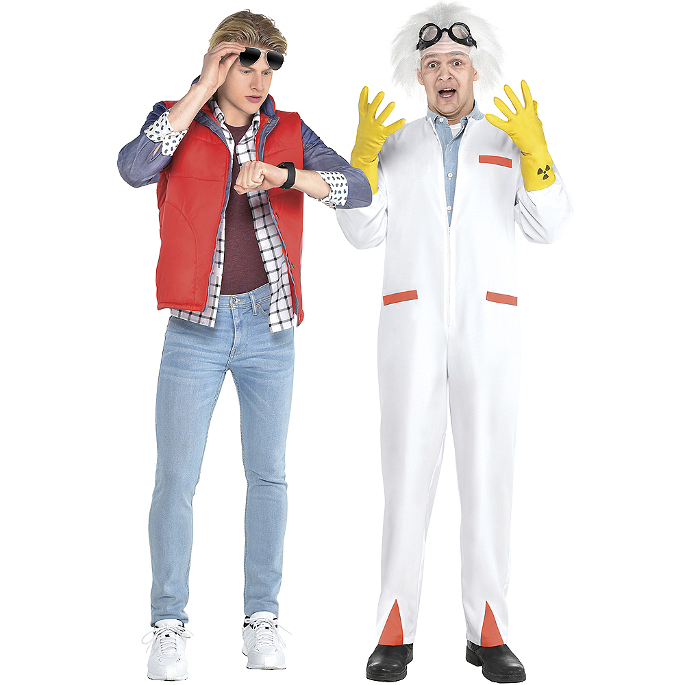 Adult Marty McFly & Doc Couples Costume Accessory Kits - Back to the Future Image #1