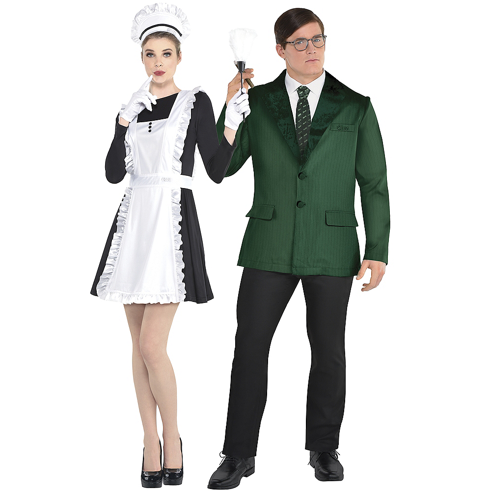 Adult Mrs. White & Mr. Green Couples Costume Accessory Kits - Clue Image #1