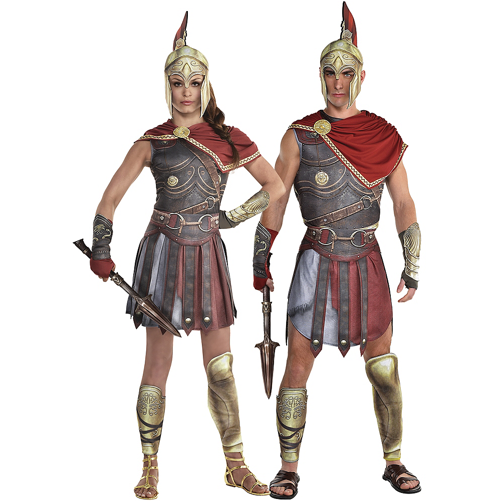 Adult Kassandra & Alexio Couples Costumes - Assassin's Creed Image #1