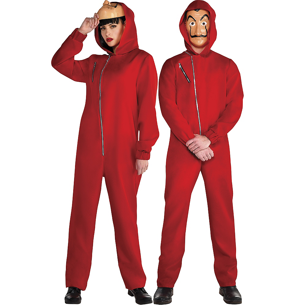 Adult Money Heist Couples Costumes Image #1