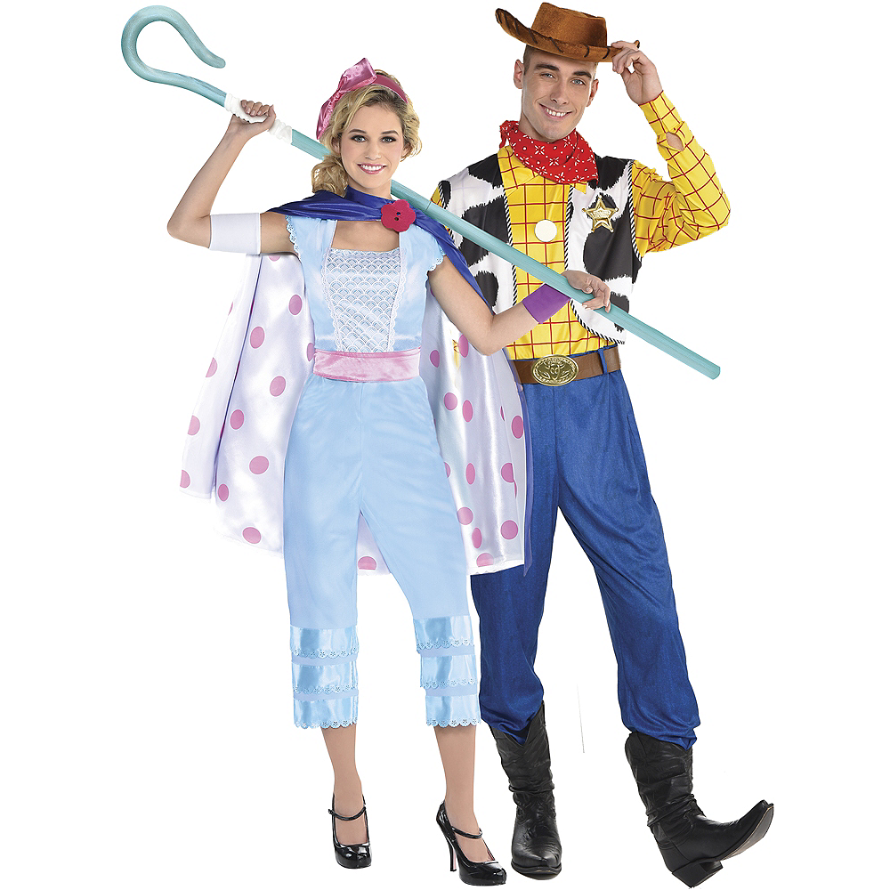 Nav Item for Adult Bo Peep & Woody Couples Costumes - Toy Story 4 Image #1