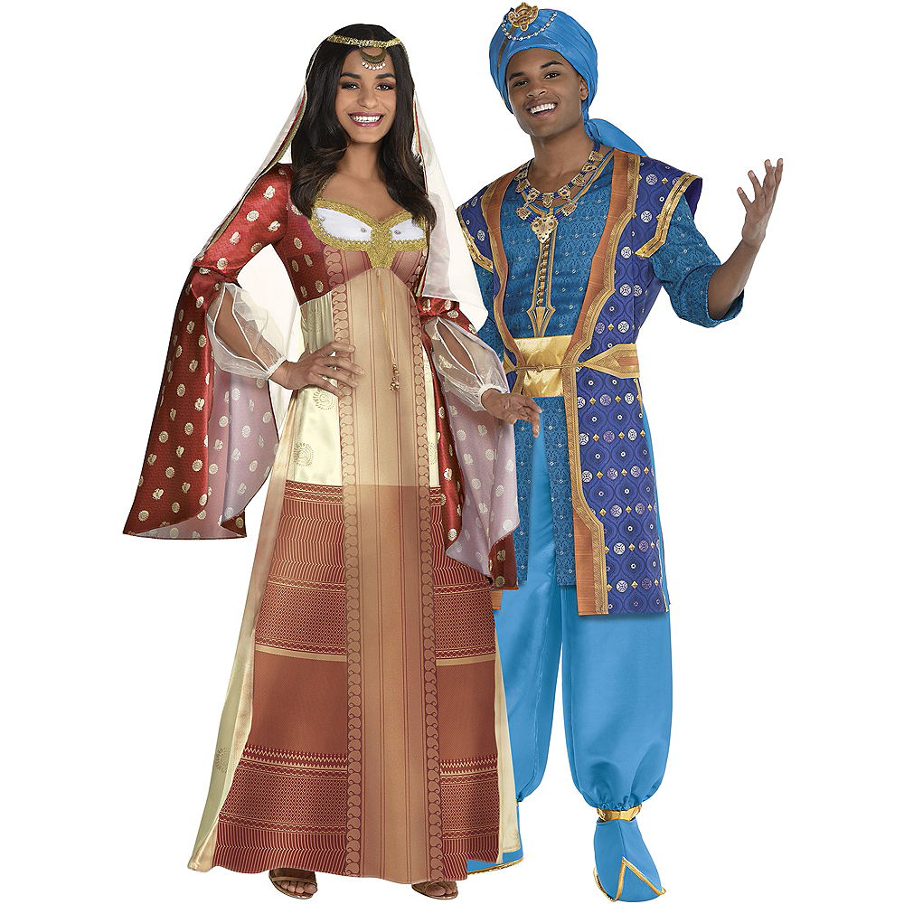 Adult Dalia & Genie Parade Couples Costumes - Aladdin Live Action Image #1
