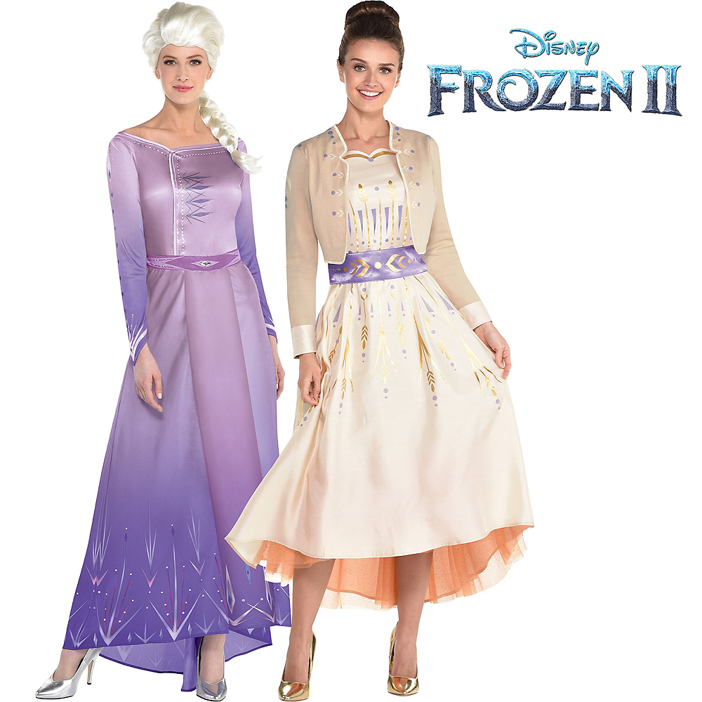 Adult Act 1 Elsa & Anna Couples Costumes - Frozen 2 Image #1