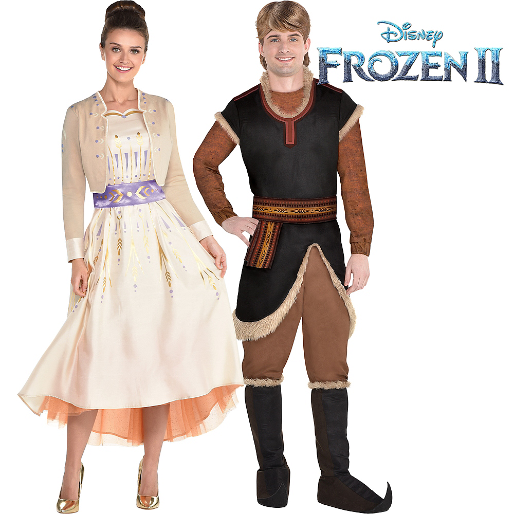 Adult Act 1 Anna & Kristoff Couples Costumes - Frozen 2 Image #1