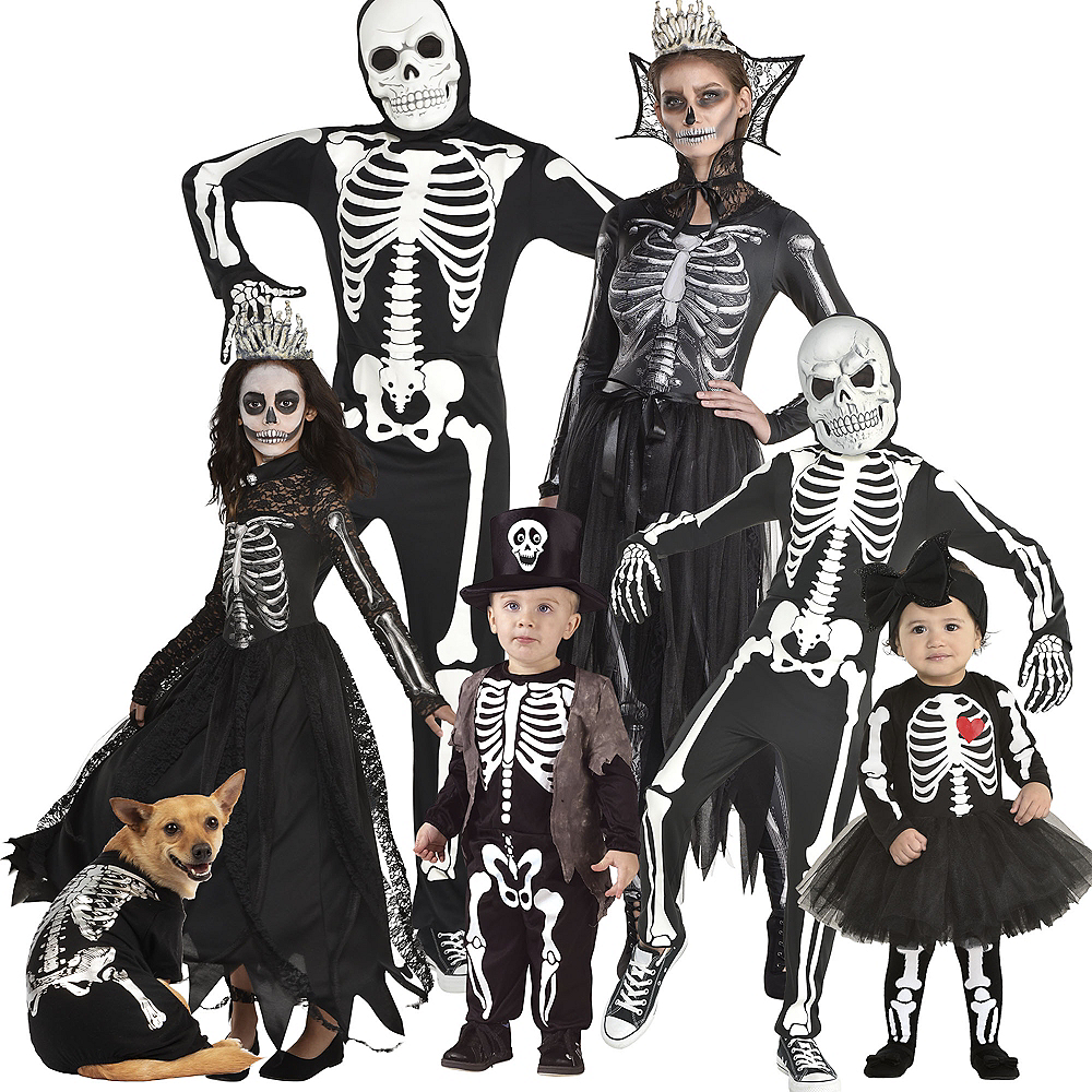 Adult Bone-A-Fied Babe Skeleton & Glow-in-the-Dark X-Ray Skeleton Couples Costume Image #1