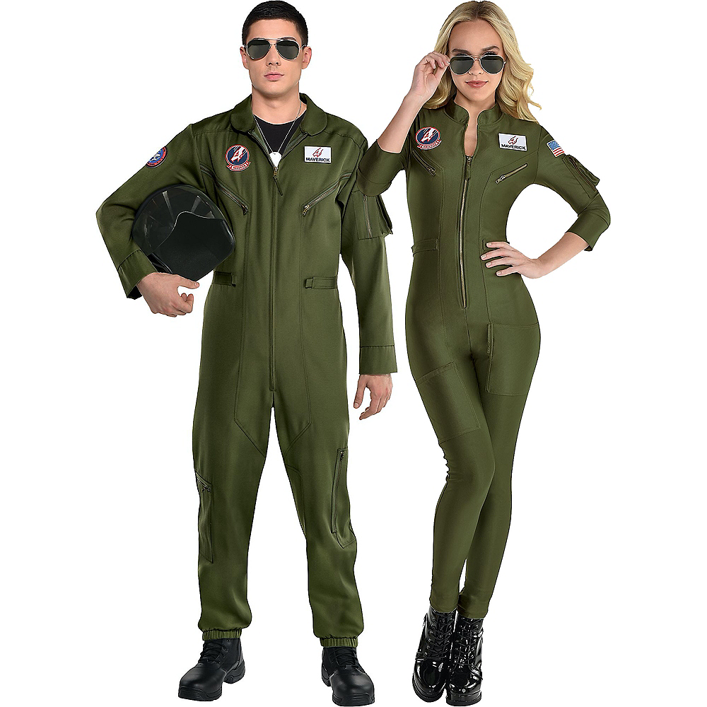 Maverick Flight Suit Couples Costumes for Adults - Top Gun 2 Image #1