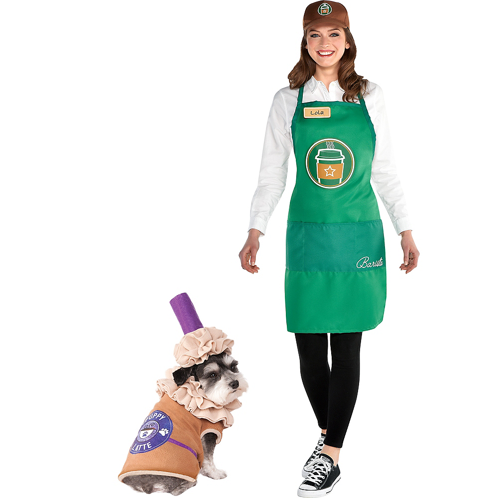 Adult Barista & Puppy Latte Doggy & Me Costumes Image #1