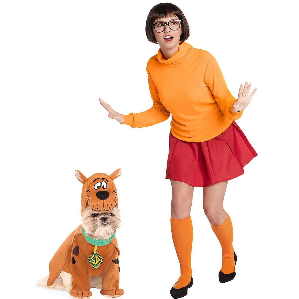 Nav Item for Adult Velma & Scooby Doo Doggy & Me Costumes - Scooby-Doo Image #1