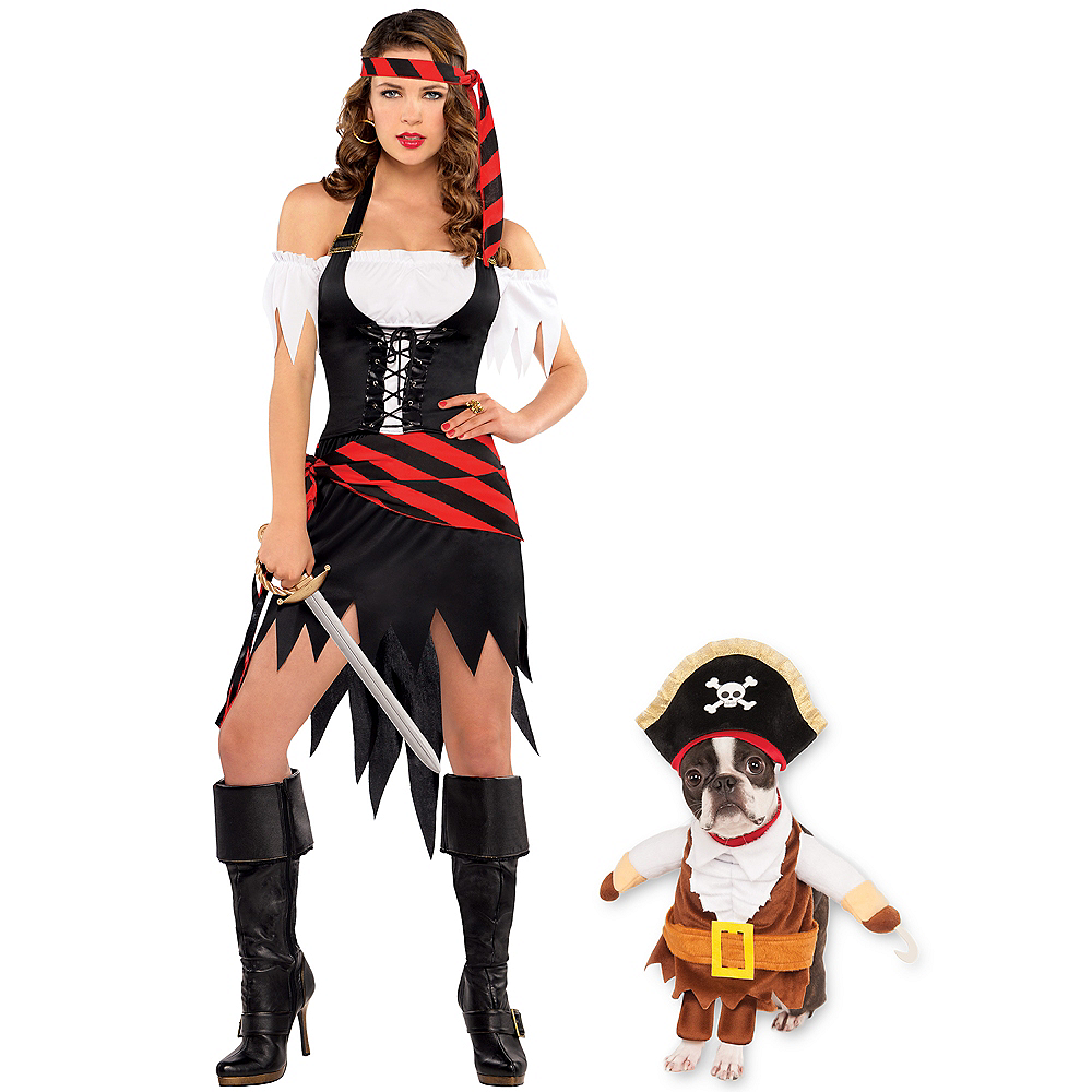 Adult Rogue Maiden Pirate & Walking Pirate Doggy & Me Costumes Image #1