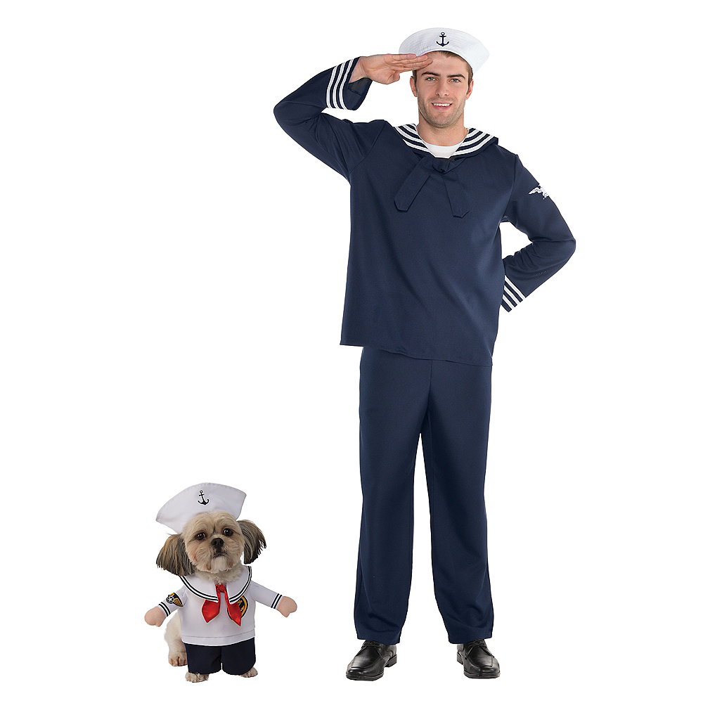 Adult Out to Sea Sailor Costume & Walking Sailor Doggy & Me Costumes Image #1