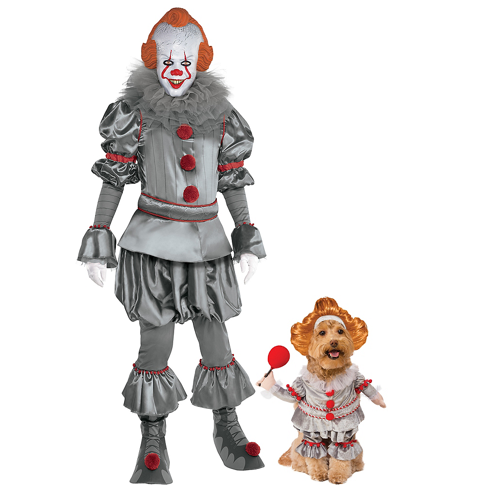 Adult Tattered Pennywise & Walking Pennywise Doggy & Me Costumes - It Image #1