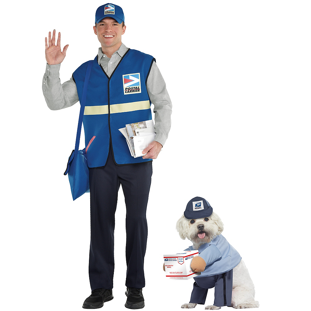 Adult Mailman & USPS Postman Doggy & Me Costumes Image #1