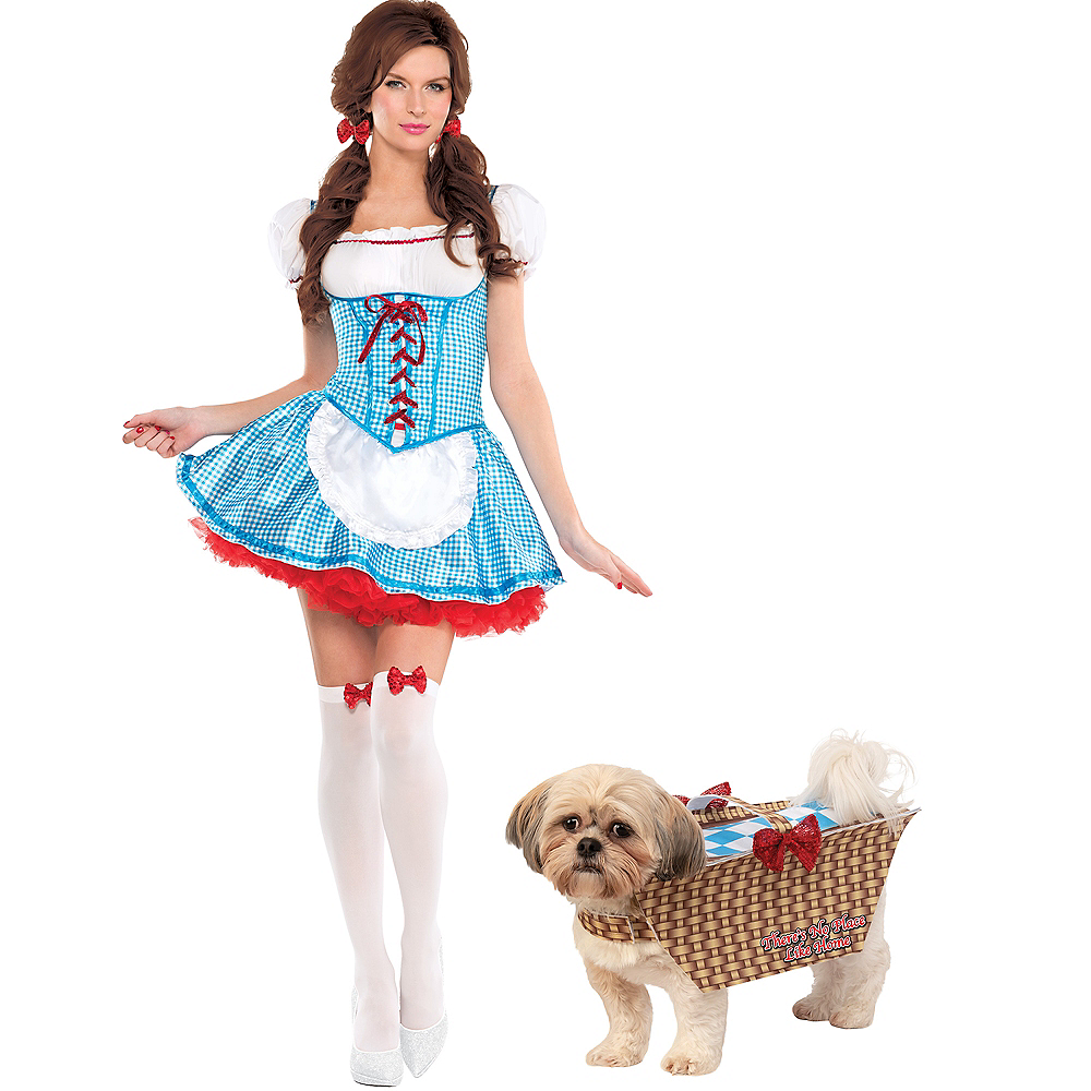 Adult Dorothy & Toto in Basket Doggy & Me Costumes - The Wizard of Oz Image #1