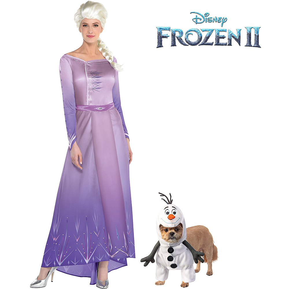 Adult Act 1 Elsa & Olaf Doggy & Me Costumes - Frozen 2 Image #1