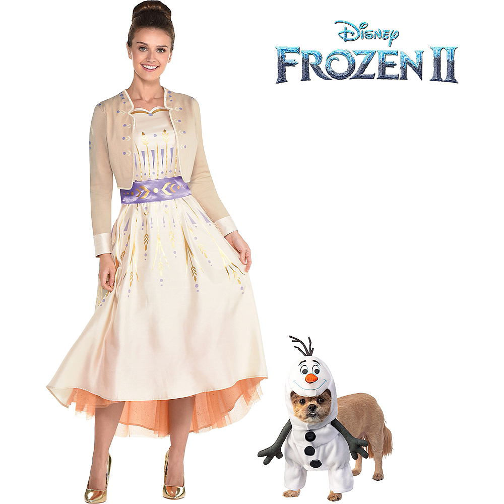 Nav Item for Adult Act 1 Anna & Olaf Doggy & Me Costumes - Frozen 2 Image #1