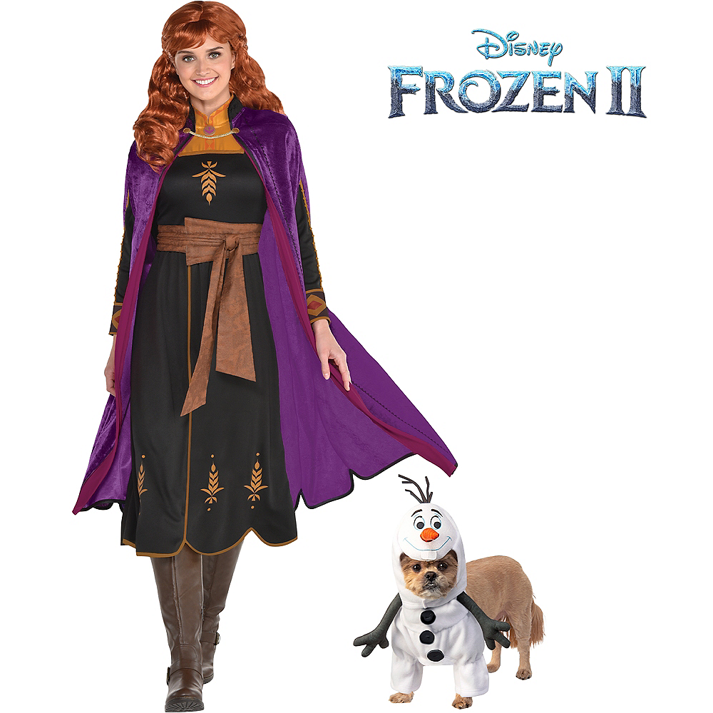 Adult Act 2 Anna & Olaf Doggy & Me Costumes - Frozen 2 Image #1