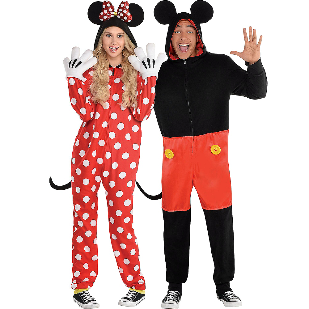 Red Polka Dot Minnie Mouse & Mickey Mouse Zipster Couples Costumes