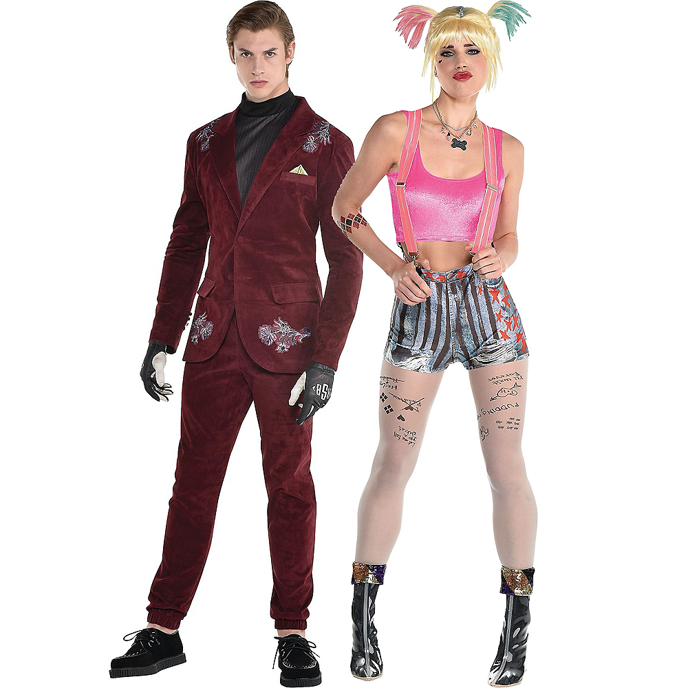 Harley Quinn & Black Mask Couples Costumes for Adults - Birds of Prey Image #1
