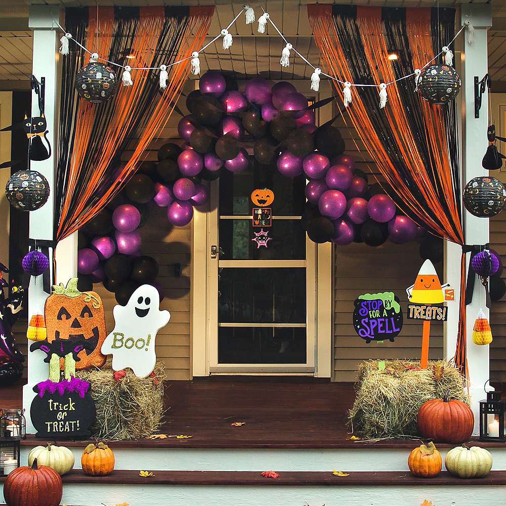 Friendly Ghosts & Pumpkins Customizable Porch Decorating Kit Image #1