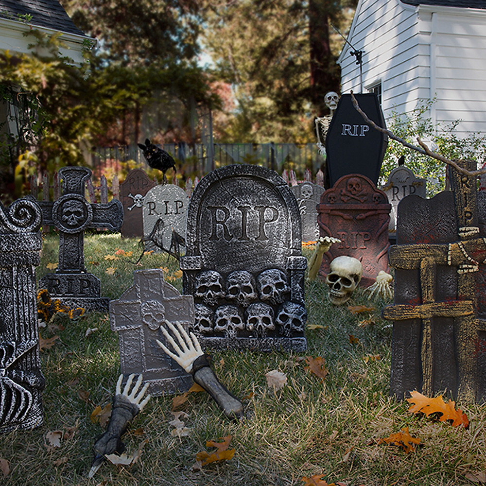 Haunted Hollows Graveyard Customizable Outdoor Decorating Kit Image #1