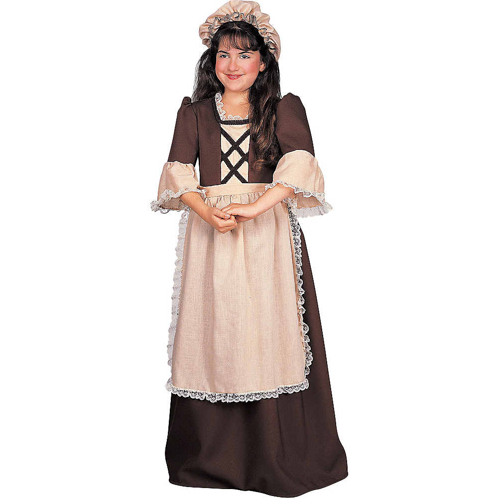 Girls Colonial Girl Costume Image #1