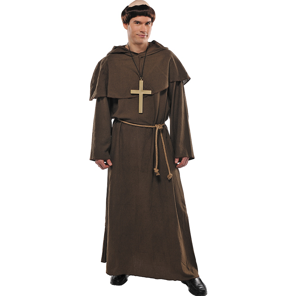 Nav Item for Adult Medieval Friar Costume Image #1