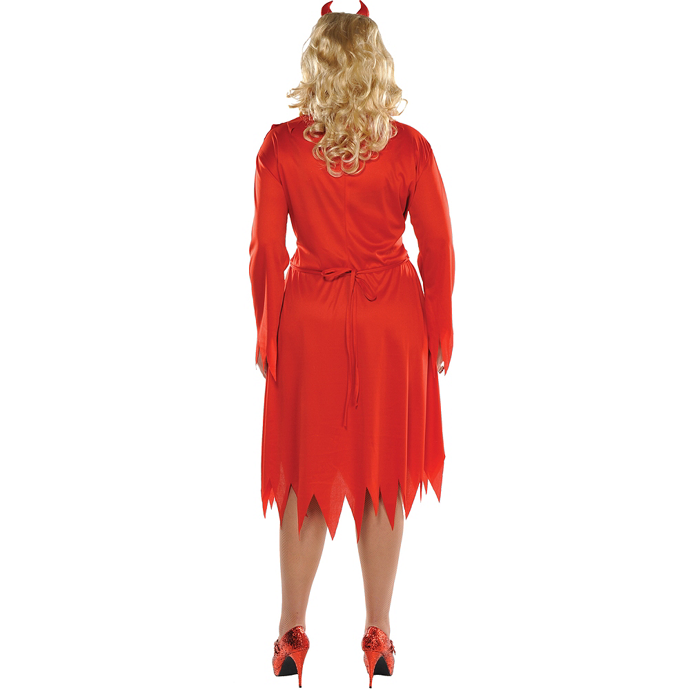 Adult Red Devil Costume Plus Size Image #2