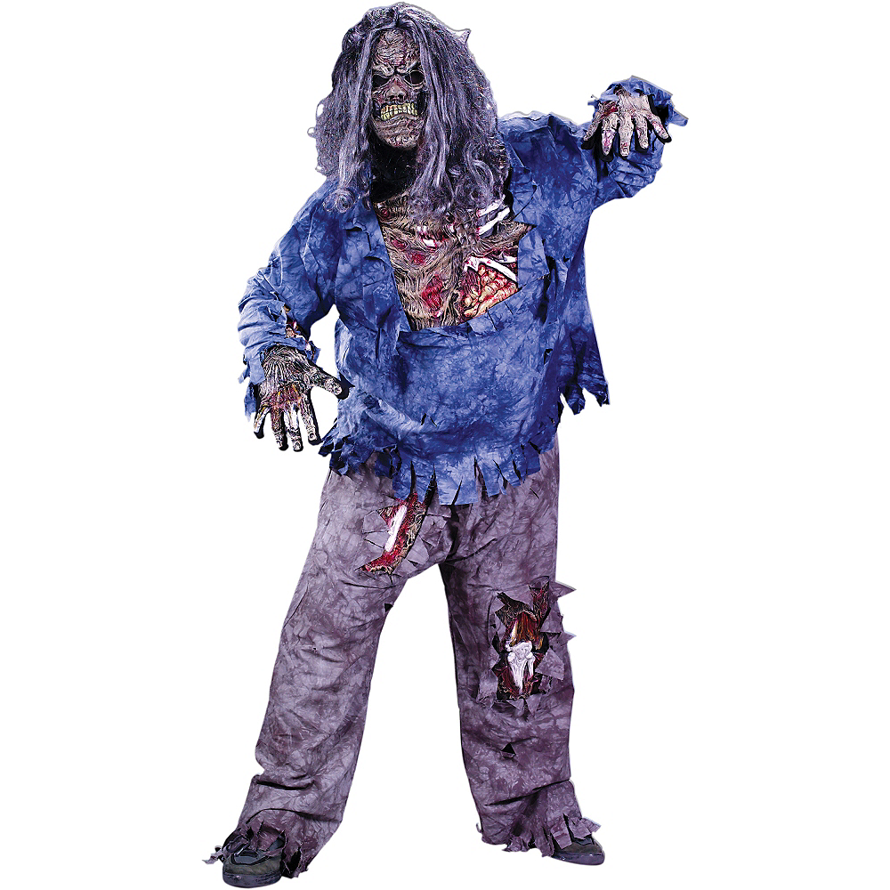 Adult Complete Zombie Costume Plus Size Image #1