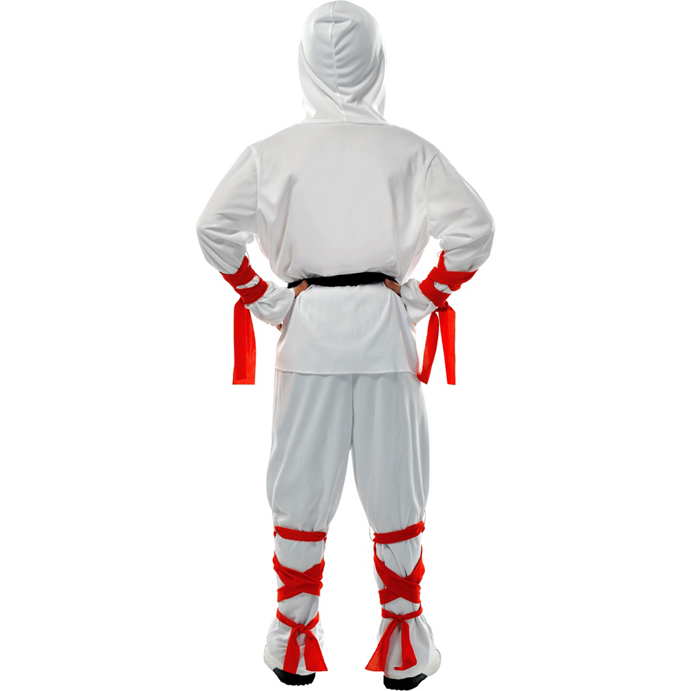 Boys White Warrior Ninja Costume Image #2