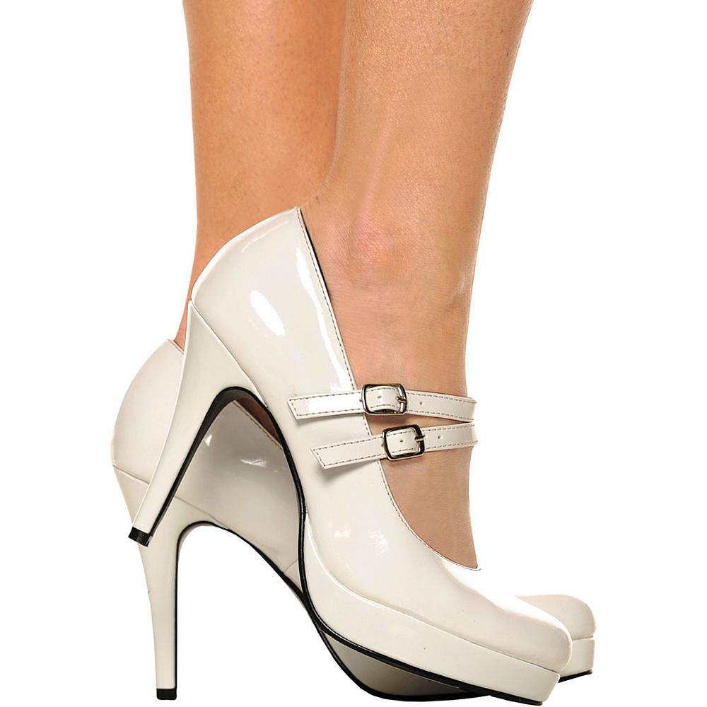 White Mary Jane Platform Shoes Image #2