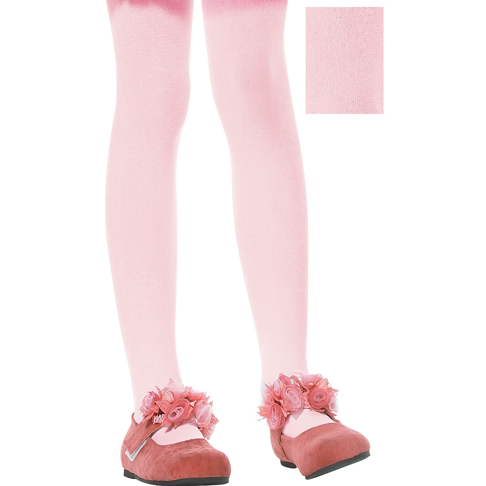 Child Pink Seamless Tights Image #1