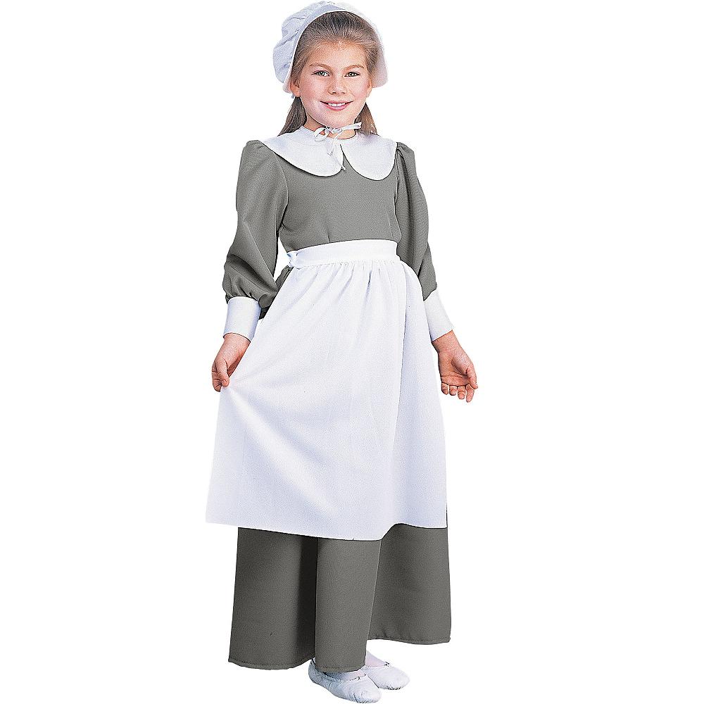 Girls Pilgrim Costume Deluxe Image #1
