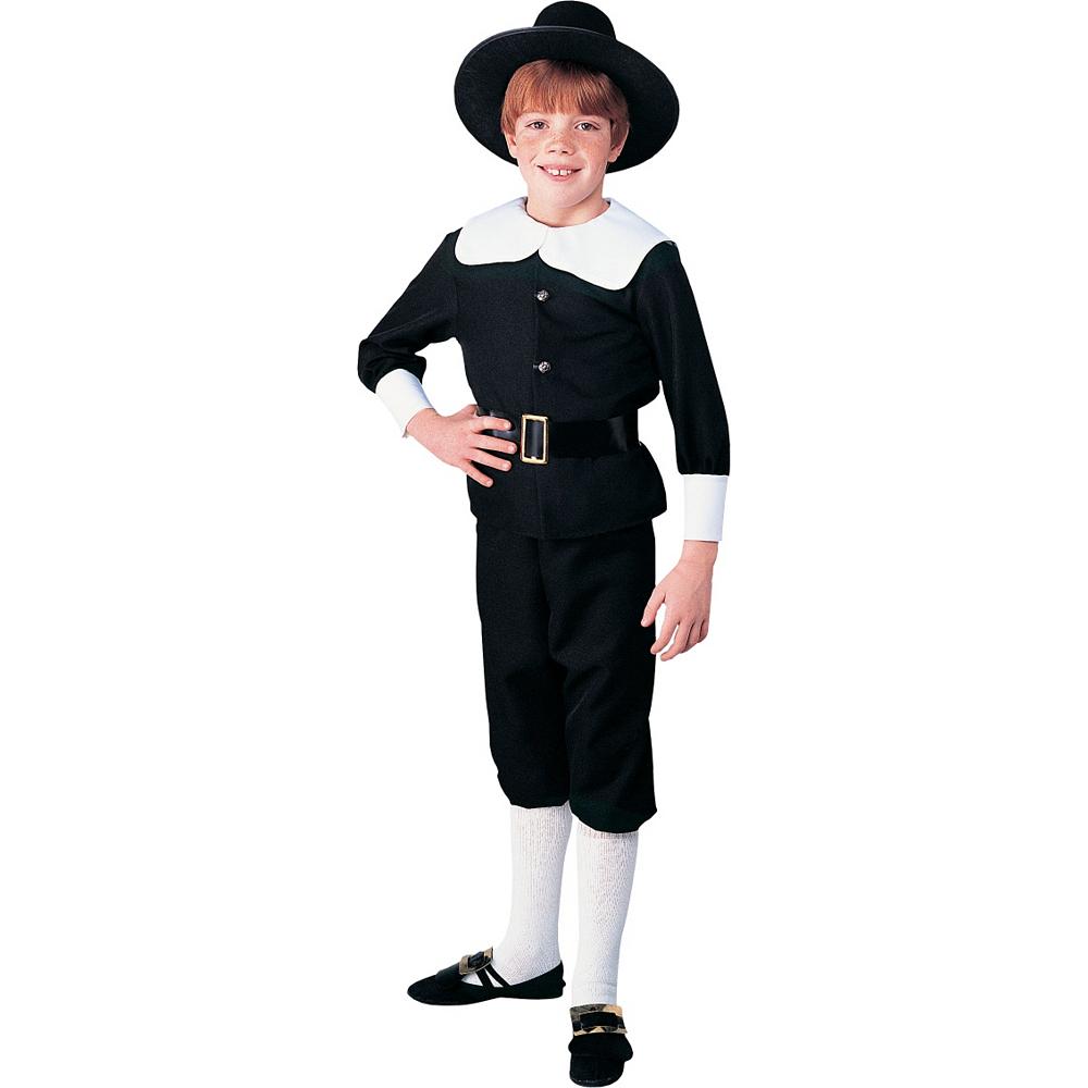 Boys Pilgrim Costume Deluxe Image #1