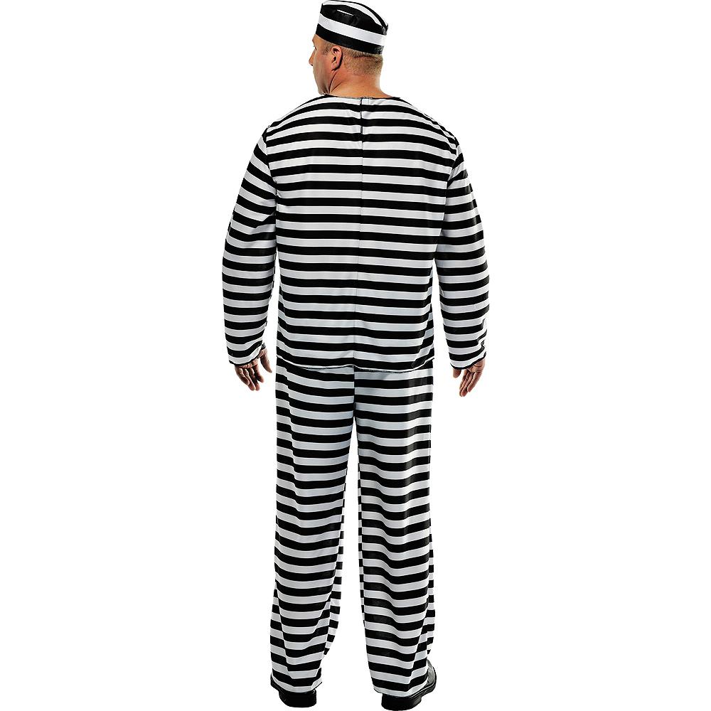 Adult Jail Bird Convict Prisoner Costume Plus Size Image #2
