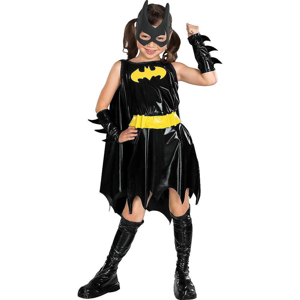 Nav Item for Girls Batgirl Costume Deluxe - Batman Image #1