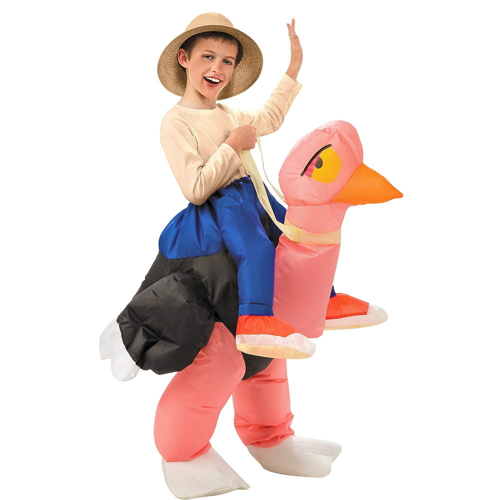 Child Inflatable Illusion Ostrich Ride On Costume Party
