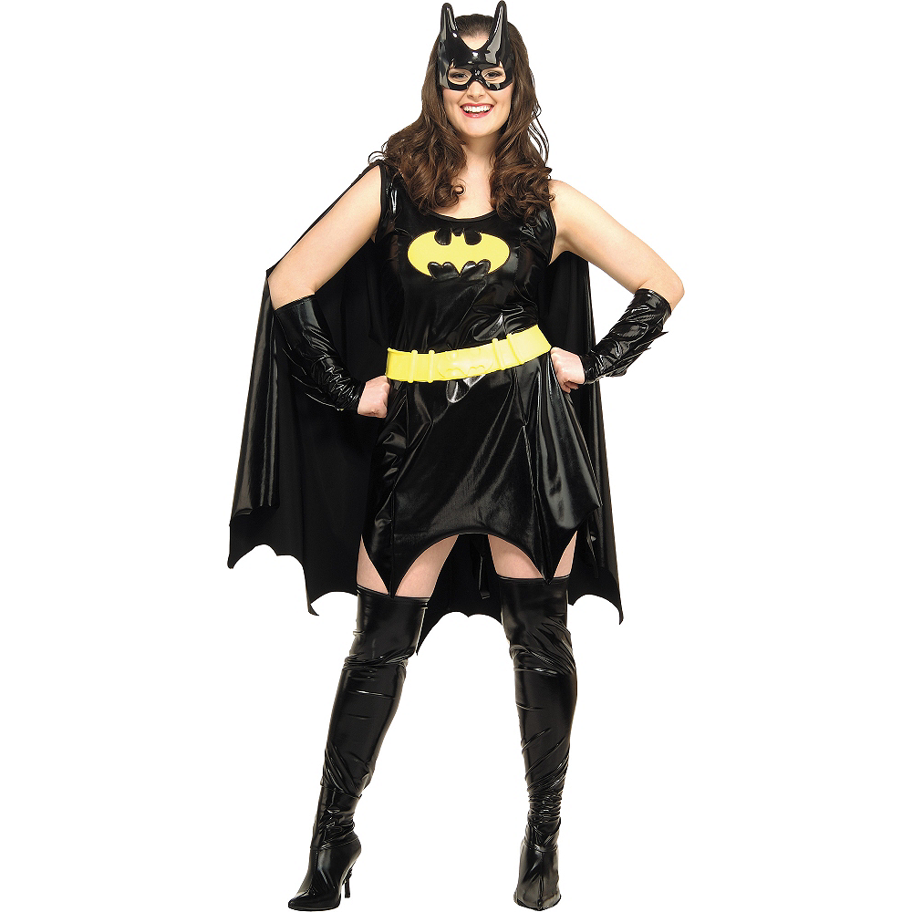 Nav Item for Adult Batgirl Costume Plus Size - Batman Image #1