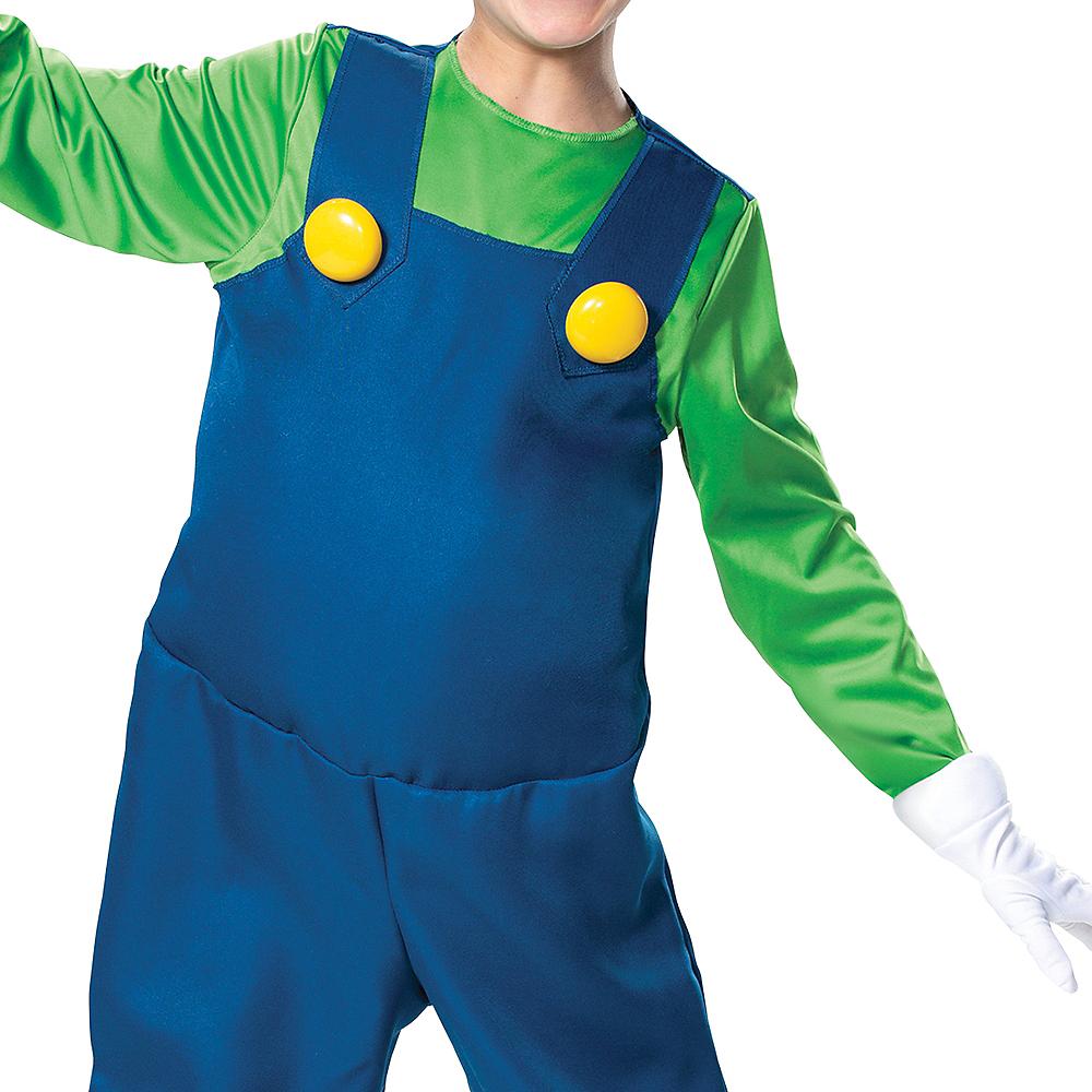 Boys Luigi Costume Deluxe - Super Mario Brothers Image #3