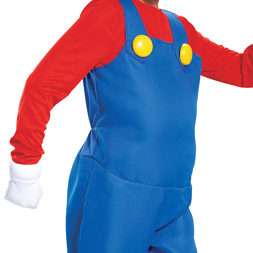Nav Item for Boys Mario Costume Deluxe - Super Mario Brothers Image #3