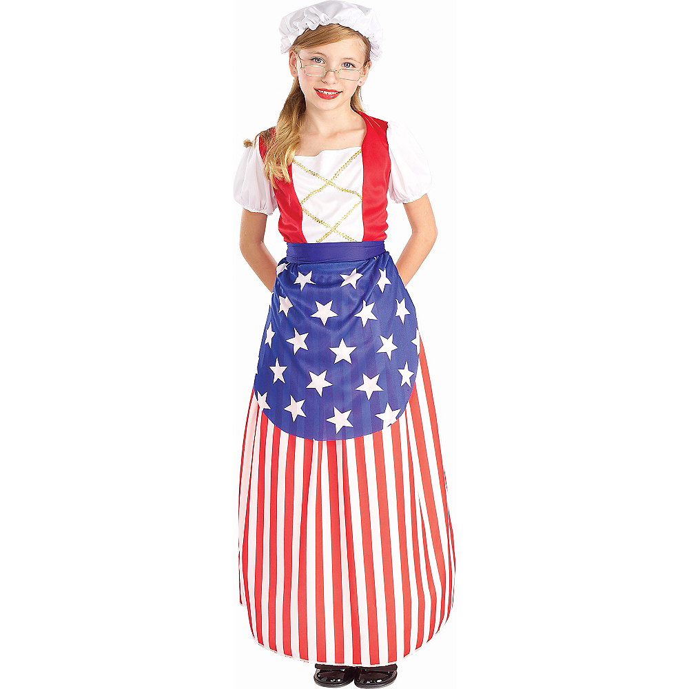 Girls Betsy Ross Costume Image #1