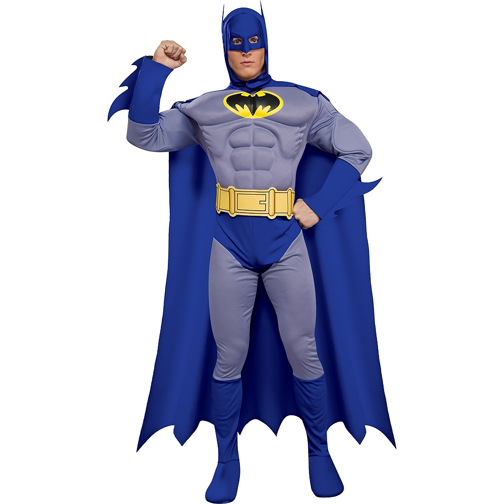 Adult Batman Costume Deluxe - The Brave & the Bold Image #1