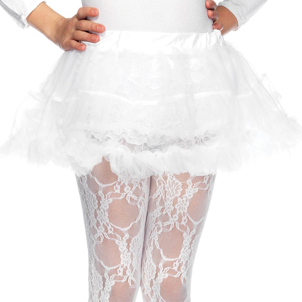 Girls White Petticoat Image #1