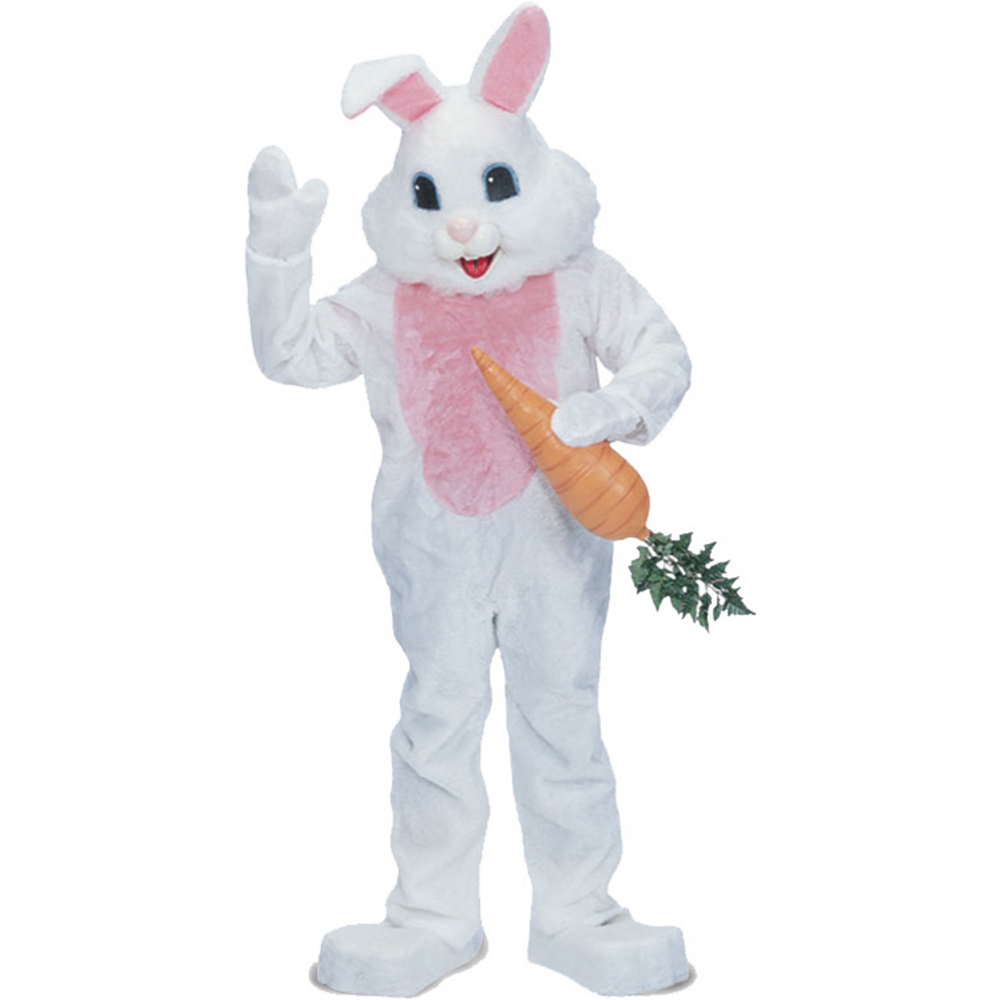 Nav Item for Adult White Mascot Bunny Costume Premium Image #1