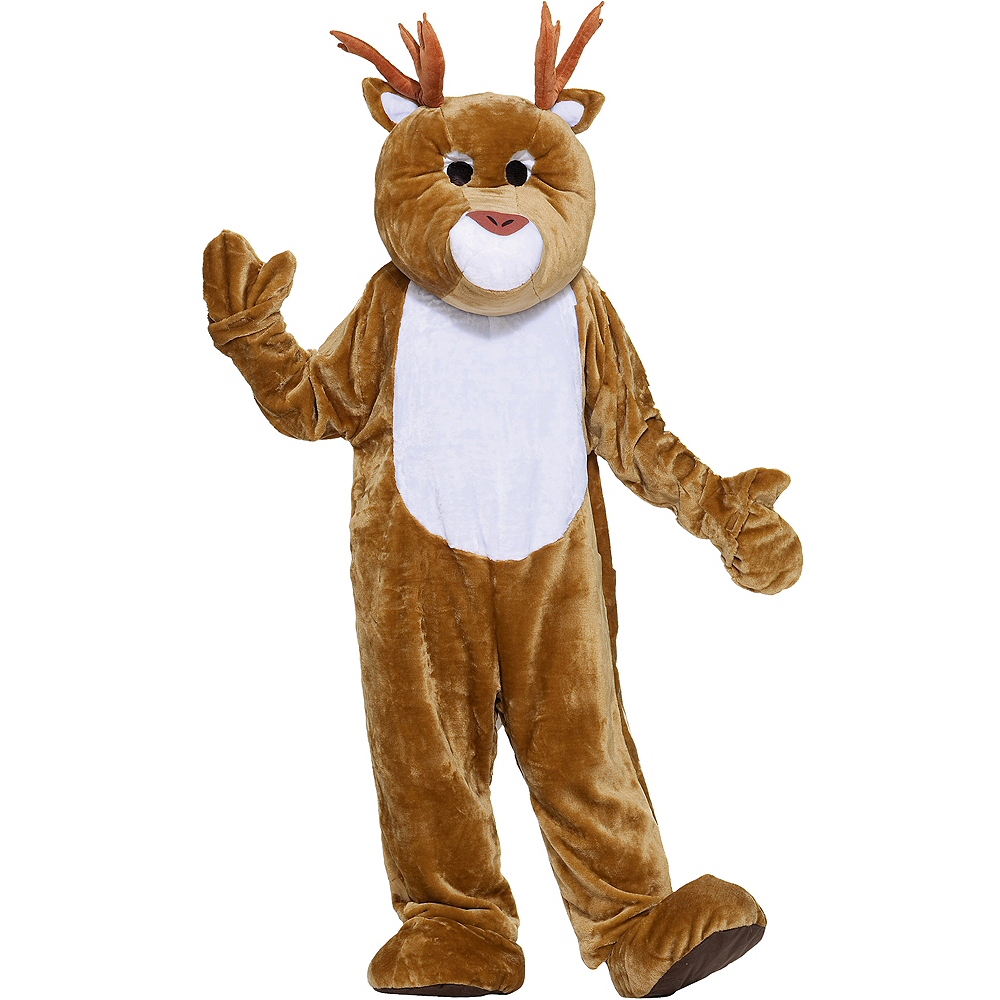 Nav Item for Adult Mascot Reindeer Costume Image #1
